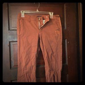 American Eagle Burnt Orange Boot Cut Khakis
